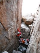"Rock Climbing Photo: Mark Collar getting ""In the Pit"" 5.10a"