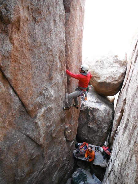 Rock Climbing Photo: Mark Collar In the Pit 5.10a