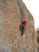 Rock Climbing Photo: Richard Shore leading Semi Tough 5.10d