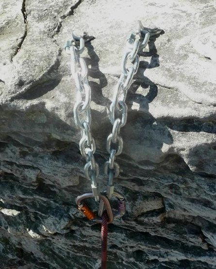Rock Climbing Photo: chains for TR anchors