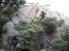 Rock Climbing Photo: Unnamed 5.10c & Unnamed 5.8