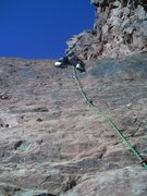 Rock Climbing Photo: Jess leading her way through the sustained start o...
