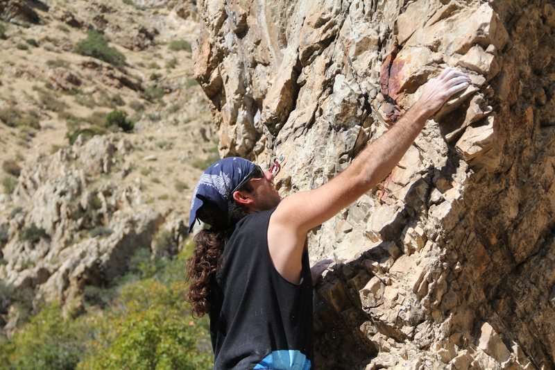 Rock Climbing Photo: Warming up on a 5.8 The Full Appendage