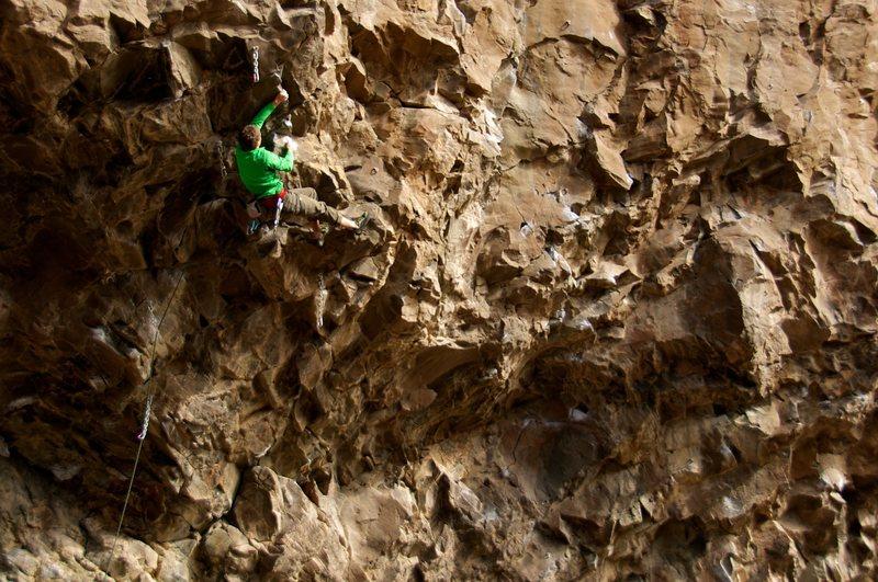 Rock Climbing Photo: Sapien action. February 2012.