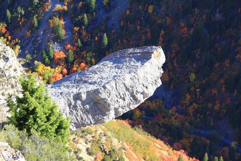 Rock Climbing Photo: The diving board in rock canyon