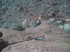 Rock Climbing Photo: Carson on Nameless Face.