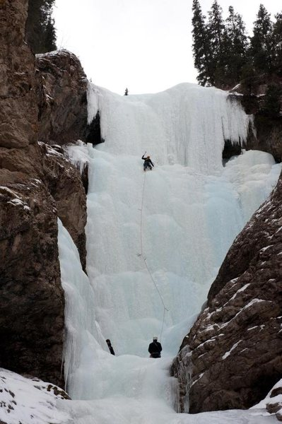 Rock Climbing Photo: Aksal's Beard Lead Ice on Pitch 2