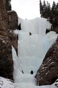 Rock Climbing Photo: Aksal's Beard Lead Ice on Pitch 2