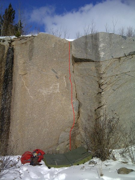 Rock Climbing Photo: Kael's Corner, V1