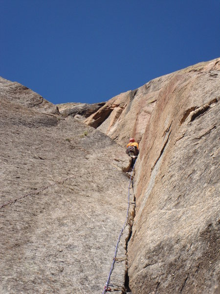 Rock Climbing Photo: Pitch after two boulder bivy.