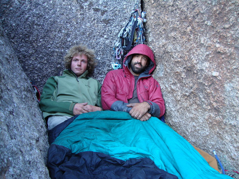 waking at the two boulder bivy