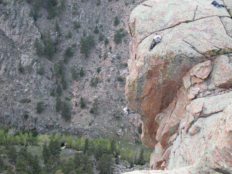 Rock Climbing Photo: Zach Top roping with RL Climb belaying