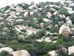 Rock Climbing Photo: Missing Link Area from the road above Elephant's T...