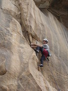 Rock Climbing Photo: Freddie beginning the second traverse on 20 Red Li...