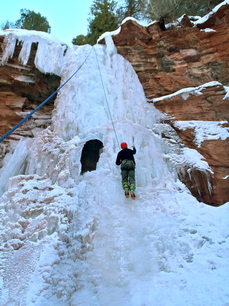 Rock Climbing Photo: Human-sized gap... likely best to hike around and ...