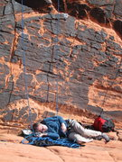 Rock Climbing Photo: Sometimes the hardest part of climbing at the Pant...