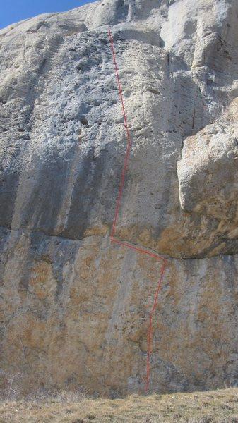 'La Magicien de Riga' fun, varied climbing.