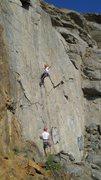 Rock Climbing Photo: Ryan leading Mass Production