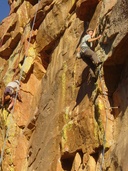 Curt Love sails thru 1St overhang of Yellowstone Kelly
