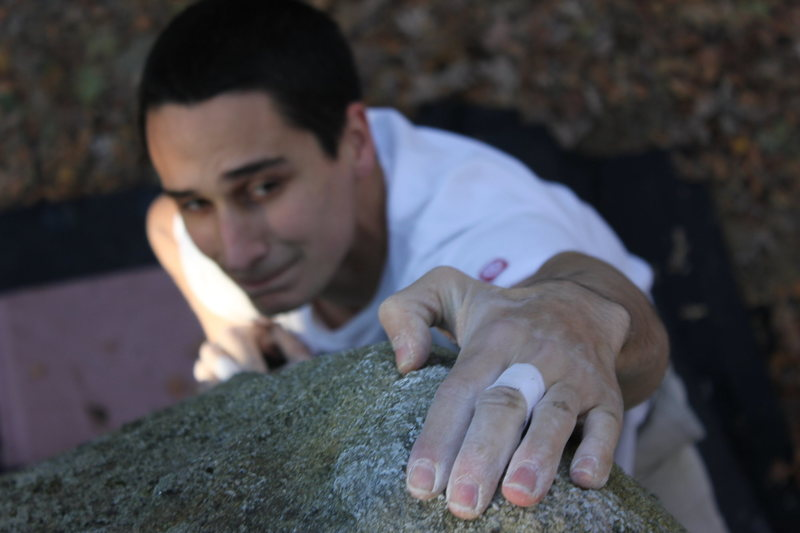 Rock Climbing Photo: Keith Nadeau topping out
