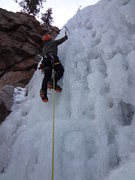 """Rock Climbing Photo: Dave Dunlap leading pitch one of """"Mickey's&qu..."""