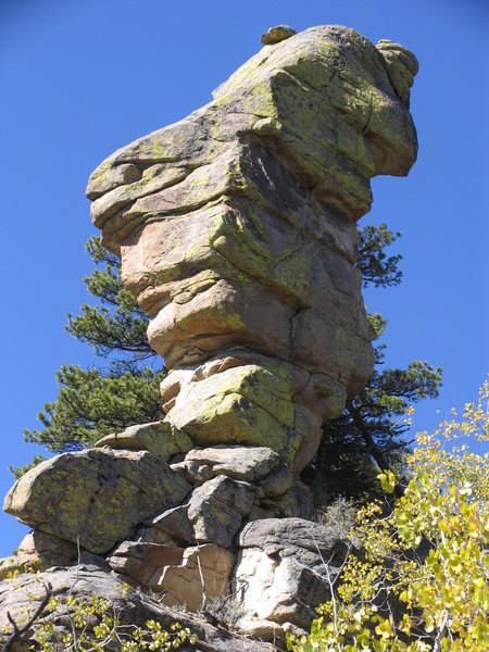A pinnacle on the west side of Curtis Gulch