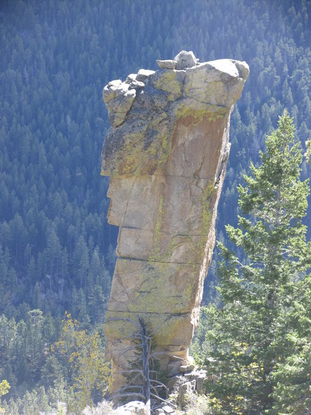 The high side of the previous pinnacle