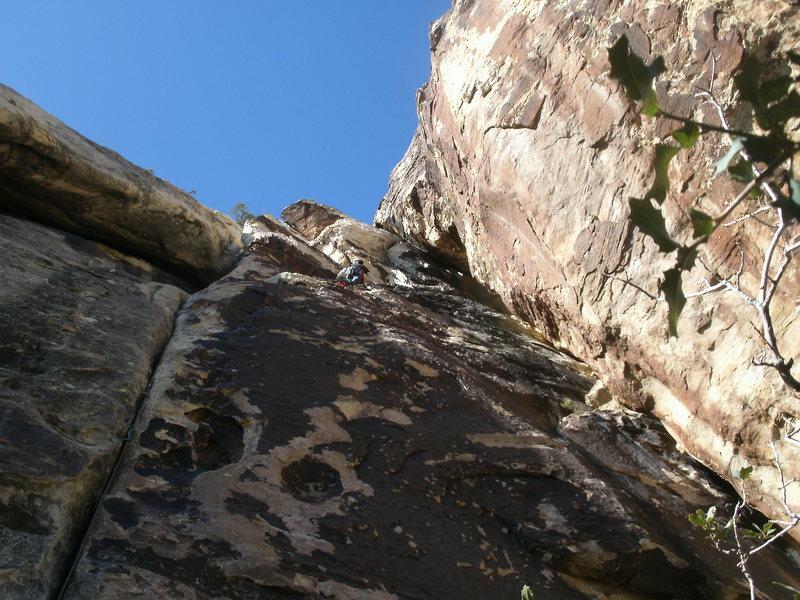 Rock Climbing Photo: dirty son of a cinch LEADING TONTO 02/21/2012