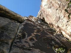 Rock Climbing Photo: dirty son of a cinch LEADING TONTO