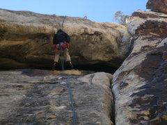 Rock Climbing Photo: MY BRO RAPPING DOWN TONTO--FREE HANG