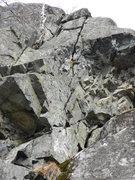 Rock Climbing Photo: Sunshine climbs left of the crack. Follow a crack ...