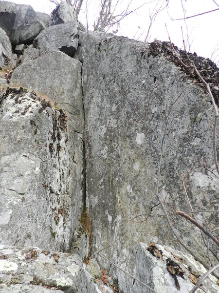 Rock Climbing Photo: The upper section of The Slot