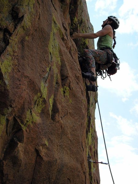 Rock Climbing Photo: Anne Yeagle and the impeccable stone on Rope Trick...