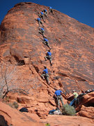 Rock Climbing Photo: Joe Leading Electric Koolaid