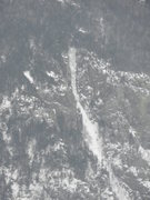 Rock Climbing Photo: A zoomed in shot of The Pilgrimage WI3 on Mt. Webs...
