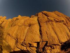Rock Climbing Photo: Debutante(5.5) is Blue. Pump Now Pay Later(5.11d) ...