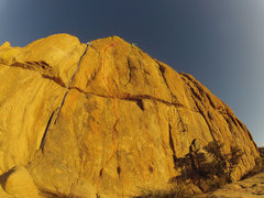 Rock Climbing Photo: Thank God (5.11d) is White. Stars and Stripes (5.1...