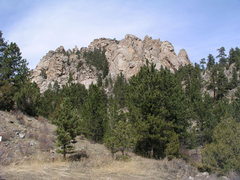 Rock Climbing Photo: Outcrops visible from the parking lot