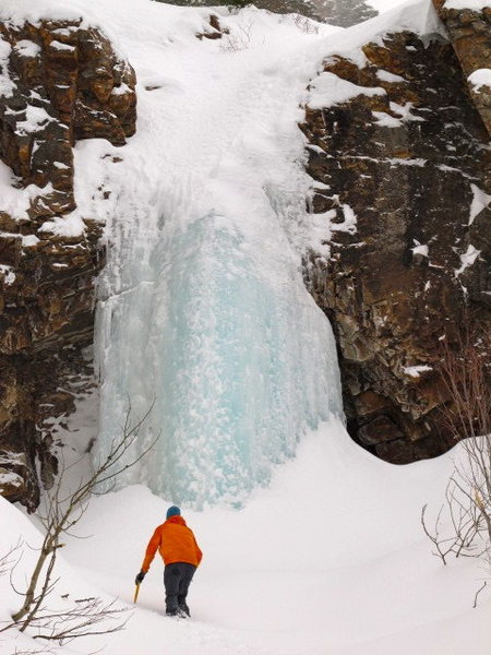 The lower falls. Ice seemed really solid.