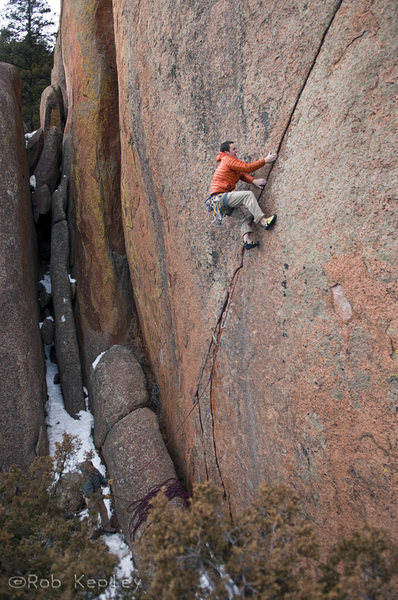Rock Climbing Photo: Things are about to ease up a little....