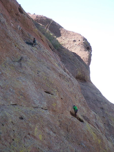 Multi-pitch climbing at Camelback Mt.