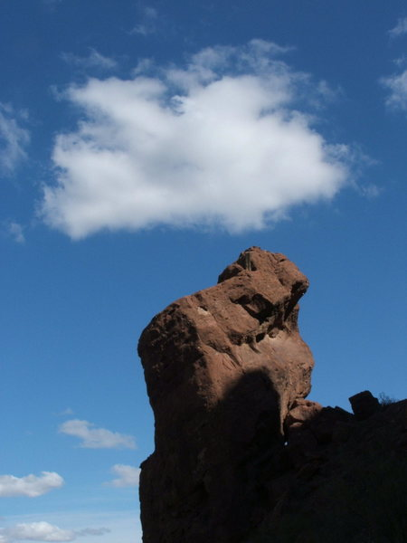 Rock Climbing Photo: The Praying Monk, Camelback Mt.
