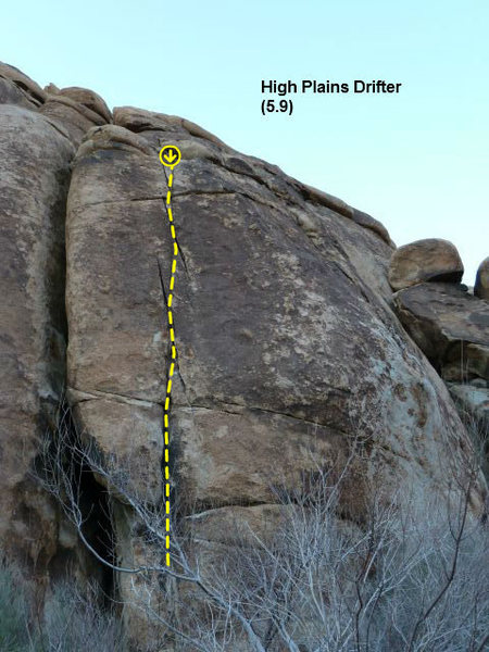 Rock Climbing Photo: High Plains Drifter (5.9), Joshua Tree NP