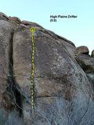 Rock Climbing Photo: High Plains Drifter (5.9), Joshua Tree NP