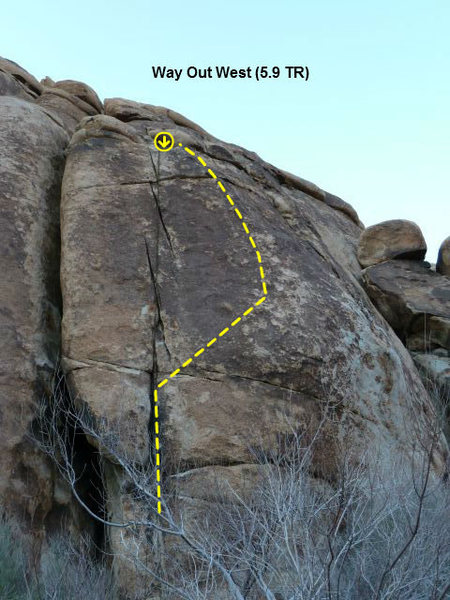 Way Out West (5.9 TR), Joshua Tree NP