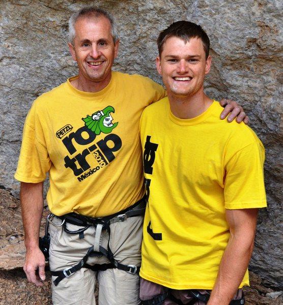 Rock Climbing Photo: Calvin Landrus and Matt Fultz.