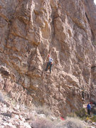Rock Climbing Photo: Laird with clipping slack from Watkins.  Where are...