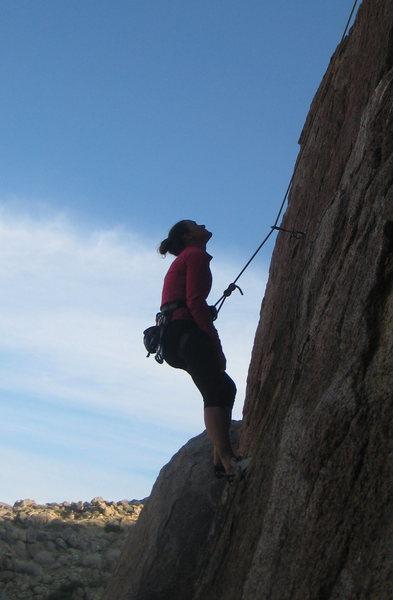 Rock Climbing Photo: contemplating the rock