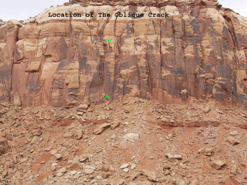Location of the Oblique Crack