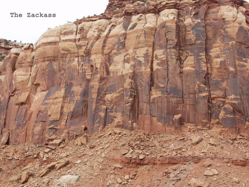 Rock Climbing Photo: Location of the Zackass